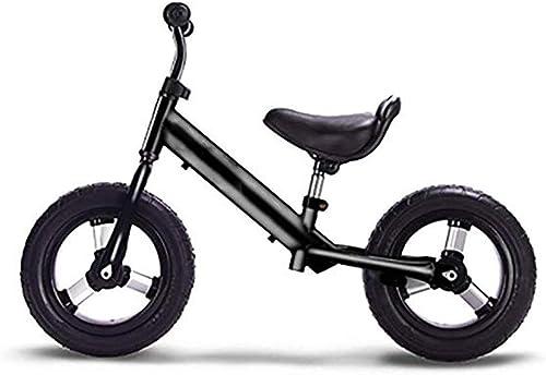 Draisiennes Vélo d'équilibre pour 2-6 Ans, vélo d'équilibre léger pour Enfants Aucun vélo à Deux Roues pour Enfant à pédale avec Guidon réglable et siège 3Couleur (Couleur   Noir)