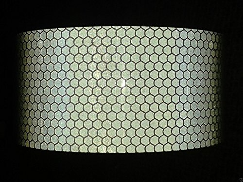 1M X 50mm SILVER Oralite High Intensity Prismatic Reflective Tape Self Adhesive Sticky Back Vinyl Safety Hi High Viz by Zoom Trading UK