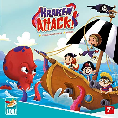 Loki 61687 Kraken Attack (Ludilo), mesa, juegos de cartas Kinderspiel