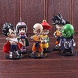 Dragón Bola Figura Dragón Niños Su Goku Krillin Gohan Chichi Piccolo Vegeta PVC Estatuillas Juguetes para niños 6pcs / Set