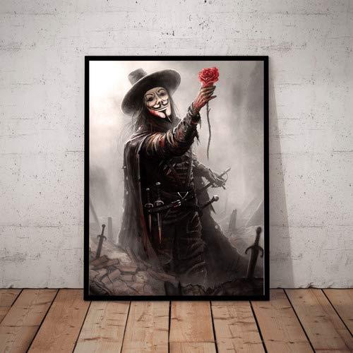Quadro Decorativo Filme V De Vingança Vendetta Arte