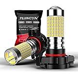 TUINCYN PSX24W Lampadine per fendinebbia a LED 1500 Lumen 3014 Chipset 144SMD Xenon White Automotive Luce di marcia diurna esterna / DRL Lampada di guida (confezione da 2)