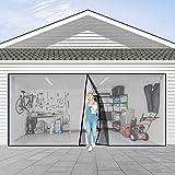 Garage Door Screen for 2 Car 16x7FT Garage Doors,Heavy Duty Door Screen Curtain for Garage Door,Hands Free Magnetic Screen Door
