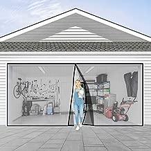Garage Door Screen for one Car 9x7FT Garage Doors,Heavy Duty Door Screen Curtain for Garage Door,Hands Free Magnetic Screen Door