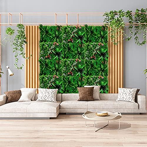 Siepe Artificiale, 2 pezzi tappetino per siepe di piante artificiali, decorazione per balcone in...