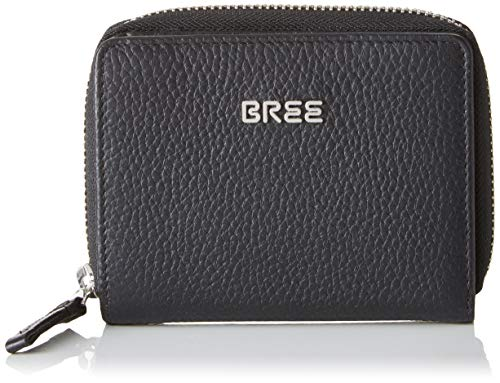 BREE Collection Damen Nola New 103, Black, Combi. Purse Gra. Geldbörse Schwarz (Black)