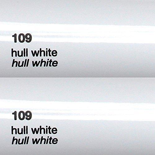 8,25€/m² Oracal 751c - 109 Hull White - Glanz Klebefolie - 5m x 63cm - Folie - Moebelfolie - Plotterfolie - Selbstklebend - gegossen - cast