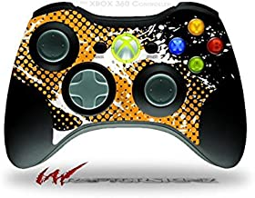 XBOX 360 Wireless Controller Decal Style Skin - Halftone Splatter White Orange (CONTROLLER NOT INCLUDED)