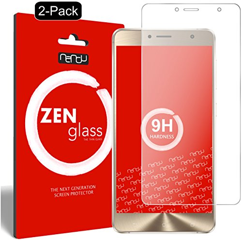 ZenGlass [2 Stück Flexible Glas-Folie kompatibel mit ASUS Zenfone 3 Deluxe ZS550KL 5,5 Zoll Panzerfolie I Bildschirm-Schutzfolie 9H