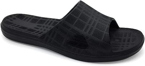 HEVA Zapatos de Playa y Piscina para Hombre Ba/ño Sandalias de Punta Descubierta