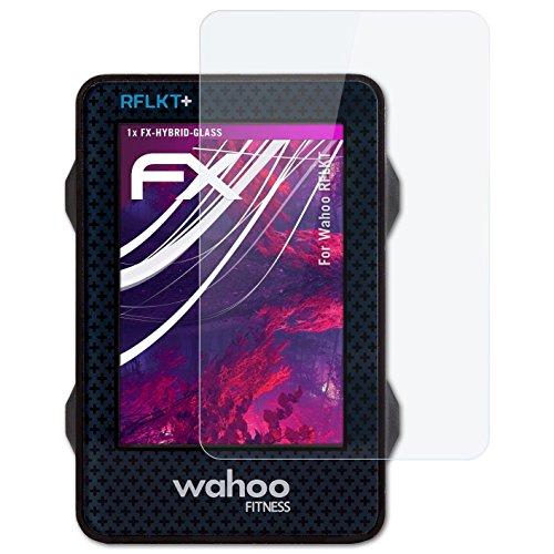 atFoliX Glasfolie kompatibel mit Wahoo RFLKT Panzerfolie, 9H Hybrid-Glass FX Schutzpanzer Folie