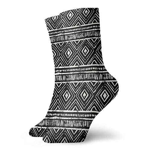 Drempad Luxury Calcetines de Deporte Black Small Pattern Unisex Socks, All-Season Sports Workout Training Ankle Socks Crew Socks