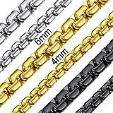 ChainsHouse Collar Acero Hombre 4mm Cadenas Veneciana Cuello Inoxidables 45cm