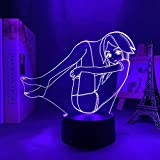 XUFAN Land of The Lustrous 3D Led Night Light Anime Figure Decor Creative Table Lamp with Touch Switch Portable Bedroom Decor Nightlight Game Player Fans Party