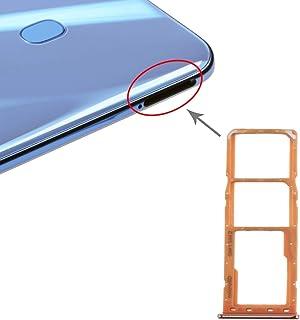 GXX Lin SIM Card Tray + SIM Card Tray + Micro SD Card Tray for Galaxy A20 A30 A50 (Black) (Color : Orange)