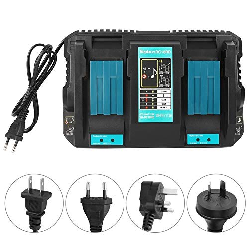 Beennex Double Battery Charger with USB Interface DC18RD Fit for Makita BL1830 Bl1430 14.4-18V