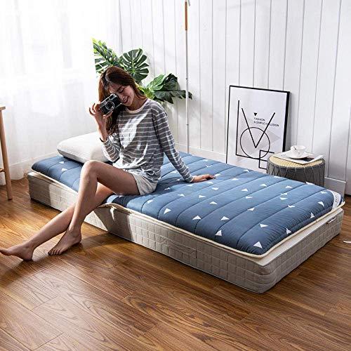 Sillones al aire libre Memoria colchón de espuma de Topper cama individual, cama doble colchón Topper, Impreso algodón desechable individual plegable Colchón @ 120 * 200cm Para jardines al aire libre