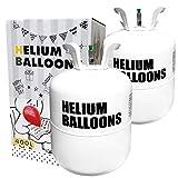 ヘリウムガス 風船 400l Wout パーティー クリスマス バルーン 風船用 (ホワイト400L 2個セット)