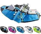 Echelon Line Bolsa Riñonera Deportivo Cinturones de Hidratación Botella Cangurera Para Running Jogging Correr Gimnasia Fitness - Bolsillo Cintura Smartphone Teléfono Móvil Celular (Azul)