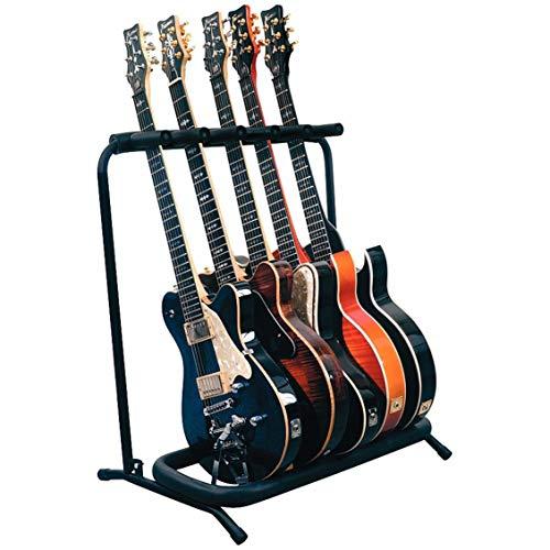 SummarLee 7 Guitarra Soporte De Metal Negro De Capa Intermedia Plegable Portátil Etapa Soporte De Guitarra Acústica Y Electrónica