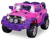 Kinder Elektroauto Jeep Pink Girly JJ235 auf rc-auto-kaufen.de ansehen