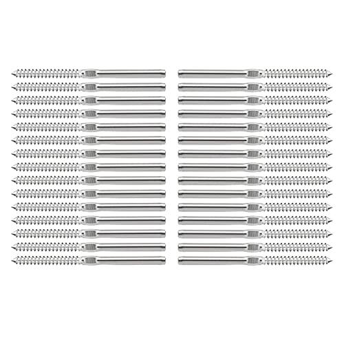 Los tornillos de retraso de los 35 pares de swage izquierda y derecha, para 1/8 pulgadas de barandilla de cable DIY Balúster Kit Madera Post Balustres Sistema DUO ER