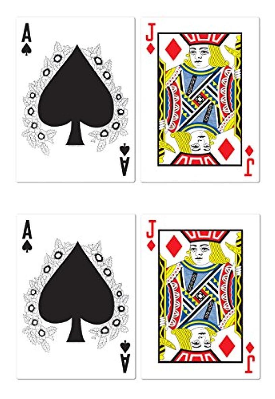 Beistle S54503AZ2, 4 Piece Jumbo Blackjack Cutouts, 25