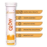 GLOWGLUTATHIONE Glow Collagen 1000 1st Collagen Peptides (Hydrolyzed) 1000mg Effervescent High Absorption Pineapple