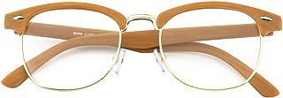 CGID CN56 Vintage Inspired Classic Horn Rimmed Nerd UV400 Clear Lens Glasses
