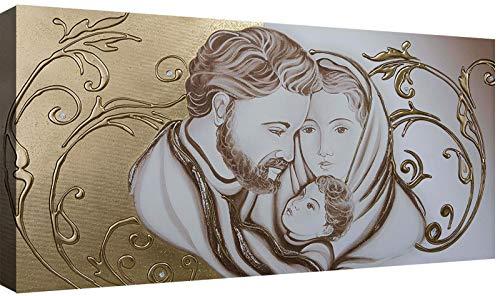 canvashop Capezzale Sacra Famiglia 02 cm 100x50 Quadri Moderni Soggiorno Stampa su Tela Camera da Letto