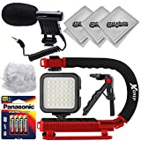 Opteka VM-8 Microphone Plus x-Grip Stabilizer Video Shooters Starter Package for Digital SLR Cameras and Camcorders with 3.5mm Mic Input Jack + Opteka Mini Table Top Tripod and More