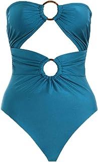ビキニ 新しい女性ヨーロッパとアメリカのワンピース水着、ブルーブリーフ+トップスツーピースの組み合わせ、休暇に適して、海辺