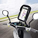 WACCET Ajustable Support Telephone Moto Imperméable Anti-Vibrations Porte Smartphone Moto Etanche avec Rotation 360°, Support...