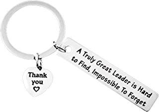 Boss Gift Keychains A Truly Great Leader is Hard to Find, Impossible to Forget Keychain Thank You Gift for Supervisor, Mentor, Leader
