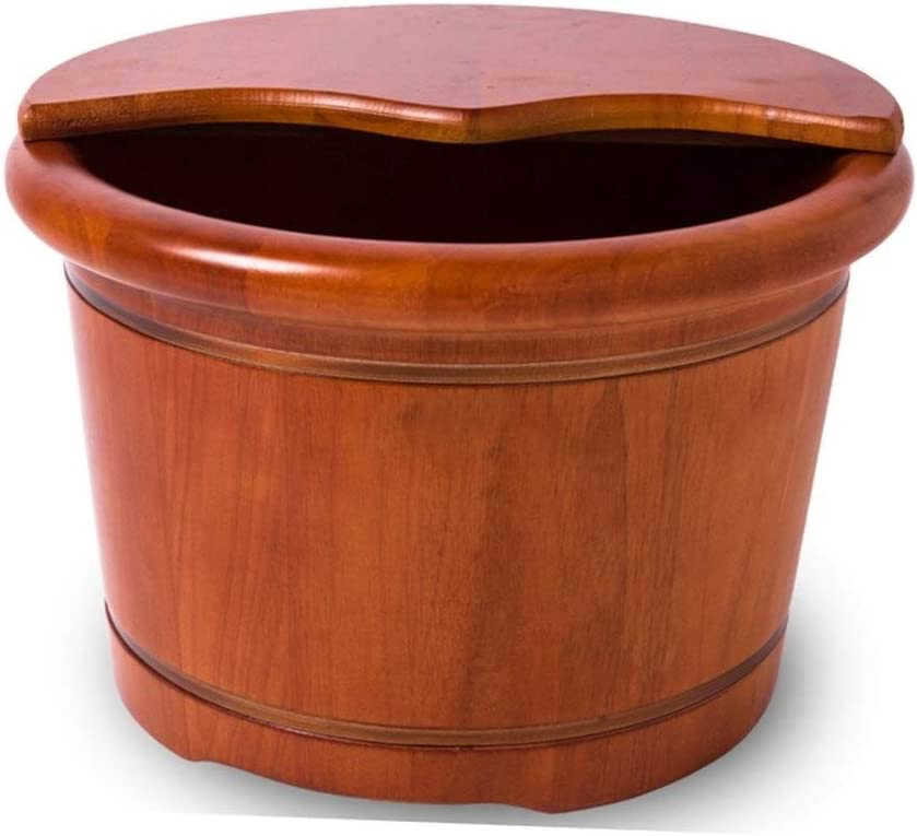 Wooden Foot Free shipping Basin Sturdy Rapid rise and Sauna Natural Thick Durable