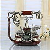 ZLBYB Antikes Telefon, Retro Vintage Telefone Classic Schreibtisch Festnetztelefon mit Echtzeit & Anrufer-ID-Anzeige for Office Home Living Room Decor, wunderbares Geschenk (Color : B)