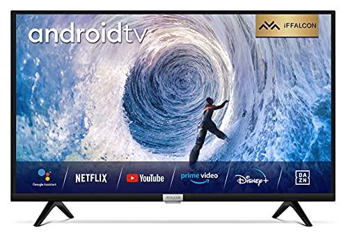 iFFALCON 32F510 Televisor Smart TV de 32 pulgadas (Full HD, HDR, sintonizador triple, Android TV, incluye mando a distancia por voz, Micro Dimming, Dolby Audio, Prime Video, Google Assistant y Alexa)