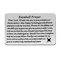 LQRI BaseballPrayer Wallet Card Baseball Player Gift DearLord I'll Take This Time to Pray and Give You Thanks Before I Play Wallet Card Baseball Jewelry (BaseballPrayer Wallet Card)