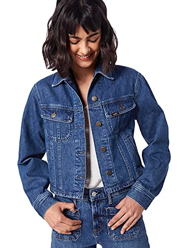 Lee Cropped Rider Jacket Chaqueta Vaquera, Azul (Tic Ez), Medium para Mujer