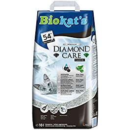 Biokat's Diamond Care Classic with fragrance-free formula – Fine cat litter with activated carbon and aloe vera – 1 bag (1 x 10 L)