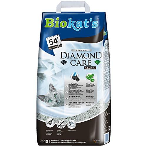 Biokat\'s Diamond Care Classic ohne Duft - Feine Katzenstreu mit Aktivkohle und Aloe Vera - 1 Sack