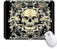VAMIX マウスパッド 個性的 おしゃれ 柔軟 かわいい ゴム製裏面 ゲーミングマウスパッド PC ノートパソコン オフィス用 デスクマット 滑り止め 耐久性が良い おもしろいパターン (頭蓋骨)