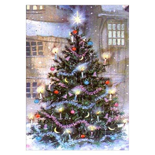YiFeiCT Kit complet de peinture diamant 5D à faire soi-même, motif sapin de Noël avec strass en cristal, pour décoration murale, 30 x 40 cm