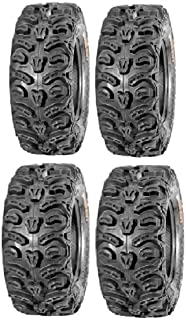 Full set of Kenda Bear Claw HTR Radial (8ply) 26x9-12 and 26x11-12 ATV Tires (4)