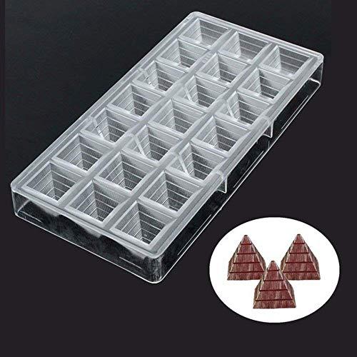Voarge Küche Backen 3D Pyramide Form Polycarbonat Schokolade Formen, PC Tablett klar Candy handgefertigt Fondant Formen Küche Tablett Bar Form Sweet Candy Form Schokolade Werkzeug