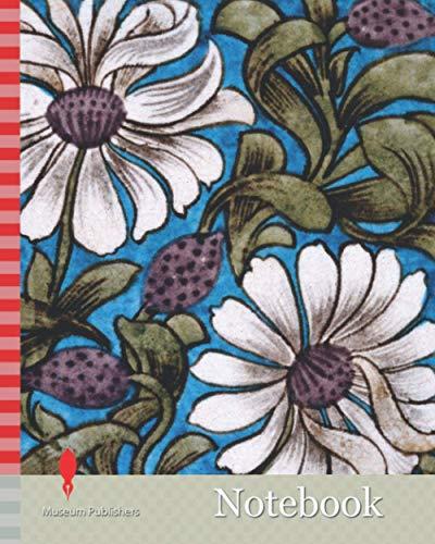 Notebook: Wall Tile, Sprig of Flowers, 1880-1890 Designer: William De Morgan Manufacturer: Craven Dunhill & Co Ltd, Applied Arts, Earthenware, Pottery, CeramicsPre-Raphaelite, Tile