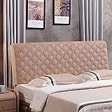 Super Soft Cubierta de cabecera de peluche corta para cama Cómoda Cómoda espesa acolchada Cabezal tapizado de cuero protector anti-sucio Fácil cuidado de muebles, gris-190x80cm . Per la decorazione de