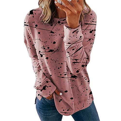 ZFQQ Otoño e Invierno Ropa de Mujer suéter de Todo fósforo a Rayas de Colores a Juego Camiseta Top