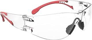 保護メガネ, アイシールドゴーグル, 防塵ゴーグル,防曇メガネ 滑り止めのノーズパッド 透明 安全ゴーグル眼鏡