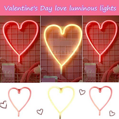 CRITY Nachtlicht, Liebe Neon LED Lichterkette DIY Lichtleiste Umweltschutz Lichterketten Valentinstag Geschenk Zuhause Dekoration Beleuchtung (Gelb)